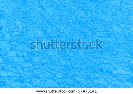 Blue water background with wavy pattern - stock photo