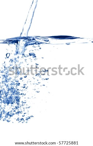 blue water bubbles - stock photo