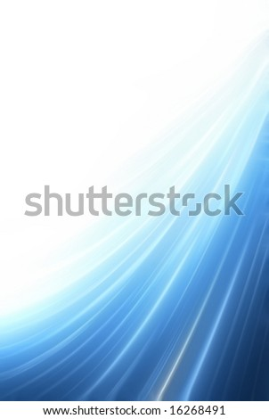 Blue water curve background with copyspace
