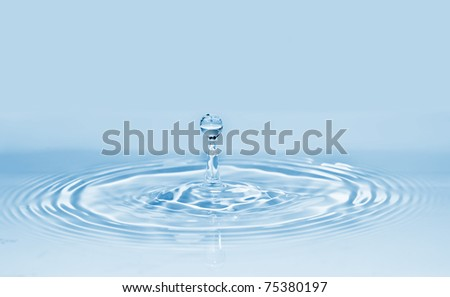 blue water drop background See my portfolio for more - stock photo