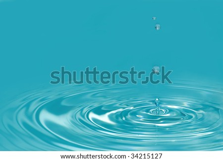 blue water drop detail background