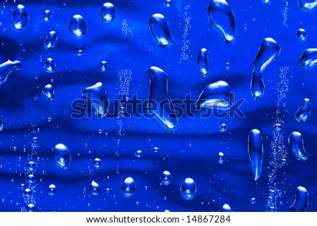 blue water drop for background