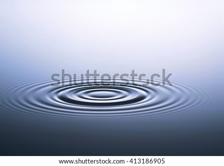 Blue water drops background - stock photo