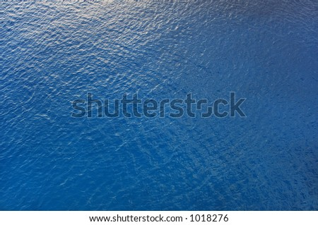 blue water from above - stock photo