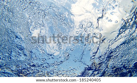 Blue Water in pool abstract - stock photo