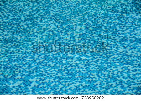 blue water in the pool
