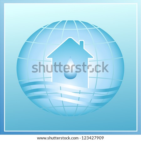 blue water on the planet - stock photo