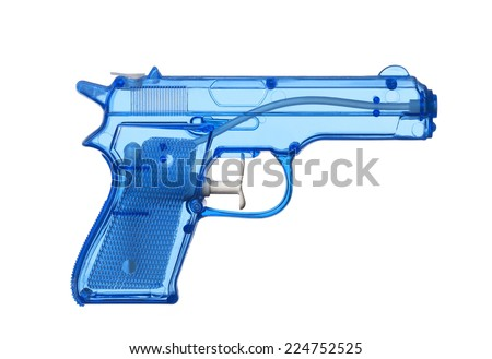 Blue Water Pistol - stock photo