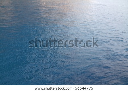 Blue water ripples - stock photo