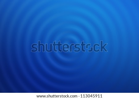 Blue Water Ripples - high quality render - stock photo
