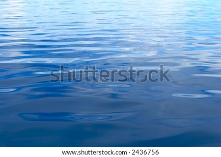 Blue water ripples in The Indian Ocean - stock photo