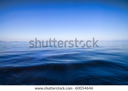 blue water seascape abstract background - stock photo