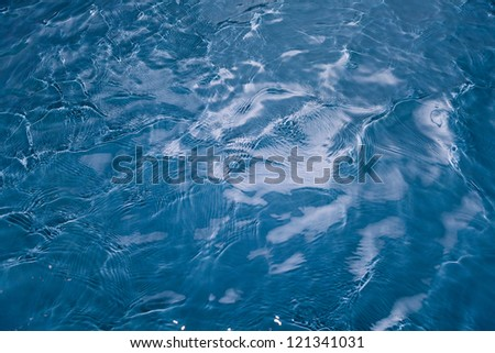 blue water surface - stock photo