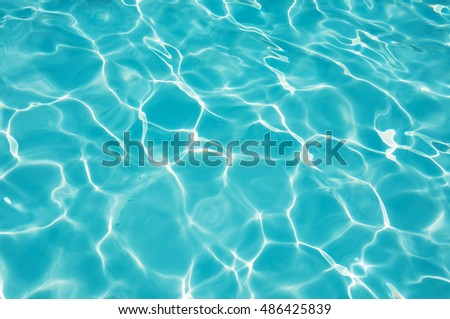 Blue water surface and abstract, Blue water surface in swimming pool
