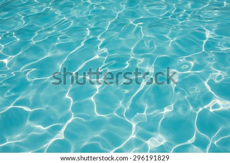 Blue water surface and textured