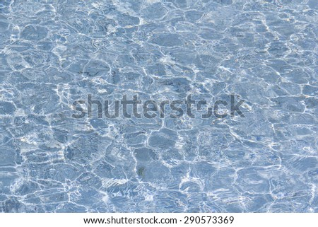 blue water surface in pool