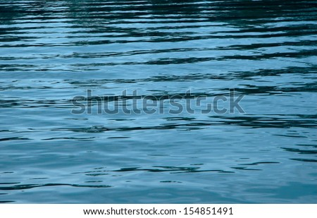 Blue water surface texture with ripples and reflections