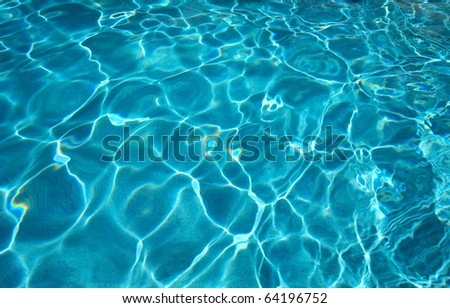 Blue water texture - stock photo