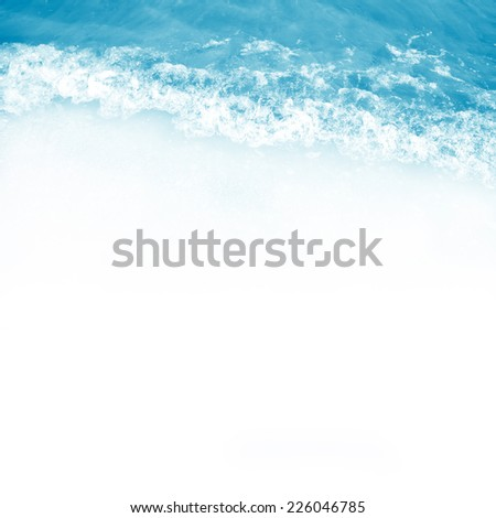 blue water wave for background - stock photo