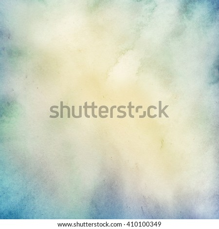 blue watercolor background, paper texture - stock photo