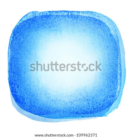 Blue watercolor background, texture - stock photo