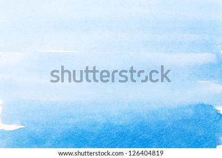 blue watercolor background, texture. - stock photo