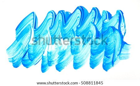 Blue watercolor brush strokes background texture