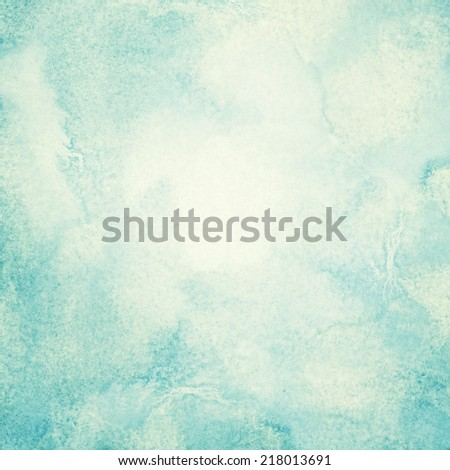 Blue watercolor clouds and sky. Abstract nature backgroud with copy space - stock photo