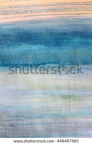 Blue Watercolor on Canvas  9 - stock photo
