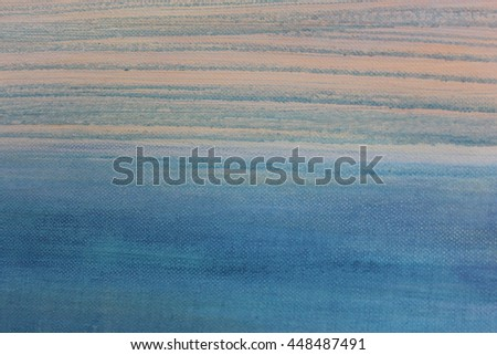 Blue Watercolor on Canvas 1 - stock photo