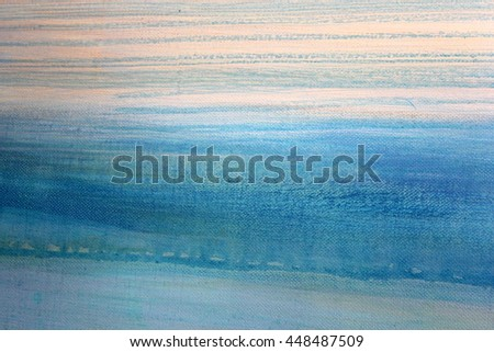 Blue Watercolor on Canvas 2 - stock photo
