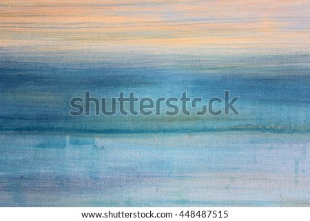 Blue Watercolor on Canvas 3 - stock photo