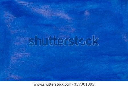 blue watercolor on paper background - stock photo