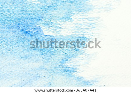 Blue watercolor paint on canvas. Abstract art background for creative design. - stock photo