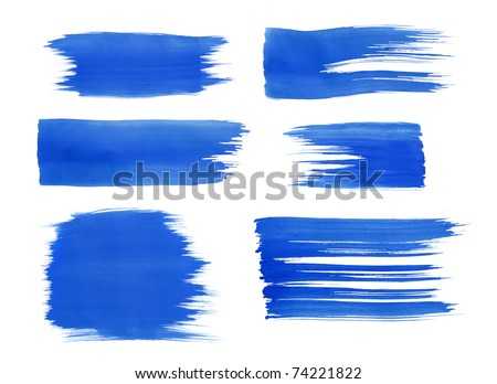 blue watercolor paint texture for text - stock photo