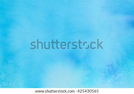blue watercolor painted background texture - stock photo