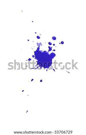 blue watercolour splatter - stock photo