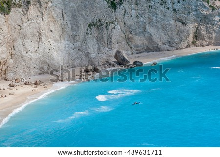 Blue Waters of Porto Katsiki Beach, Lefkada, Ionian Islands, Greece