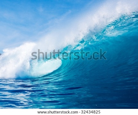 Blue Wave - stock photo