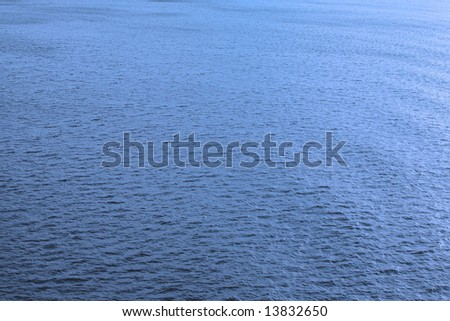 Blue wave on the ocean 1 - stock photo