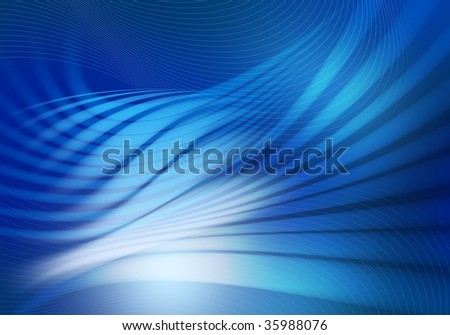 Blue waves - stock photo