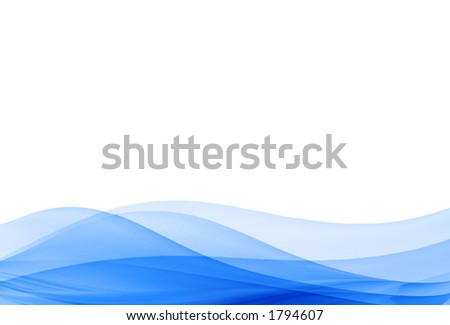blue waves illustration no: 4 - stock photo