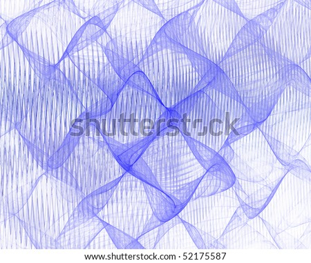 Blue waves on white background - stock photo