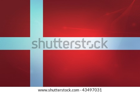 blue waves style flag of denmark