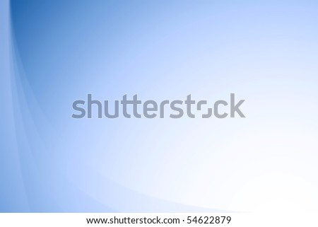 Blue wavy abstract gradient background texture - stock photo