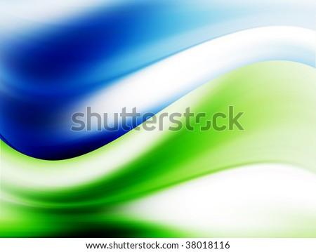 blue, white and  green background. abstract illustration
