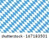 Blue White checked pattern for the bavarian flag or harlequin dress - stock vector