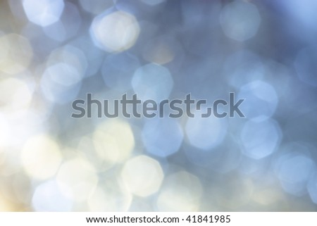 blue white christmas illumination off focus background - stock photo