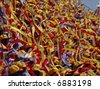 Blue, white, red and yellow stripes - stock photo