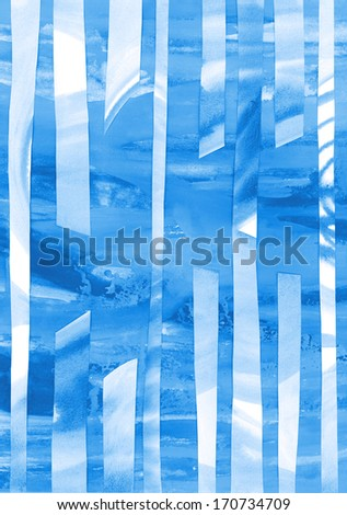Blue Winter Background - stock photo